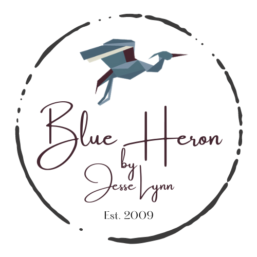 Blue Heron Bead & Craft Works logo.