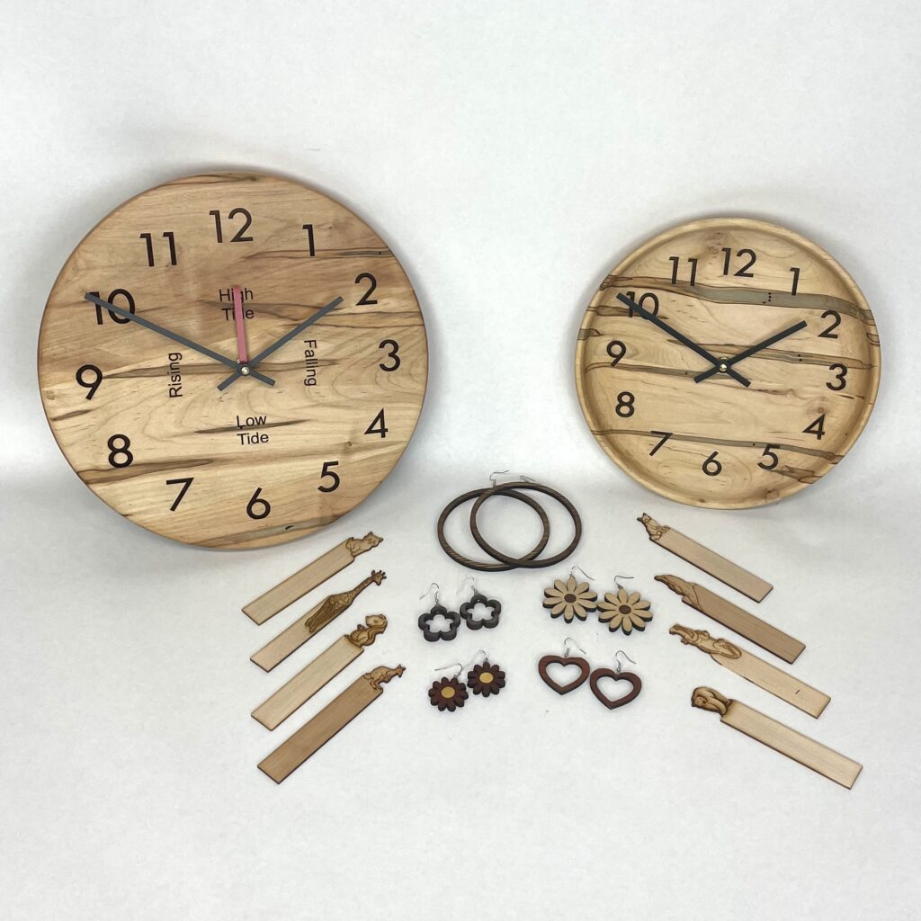 Handmade wooden clock..