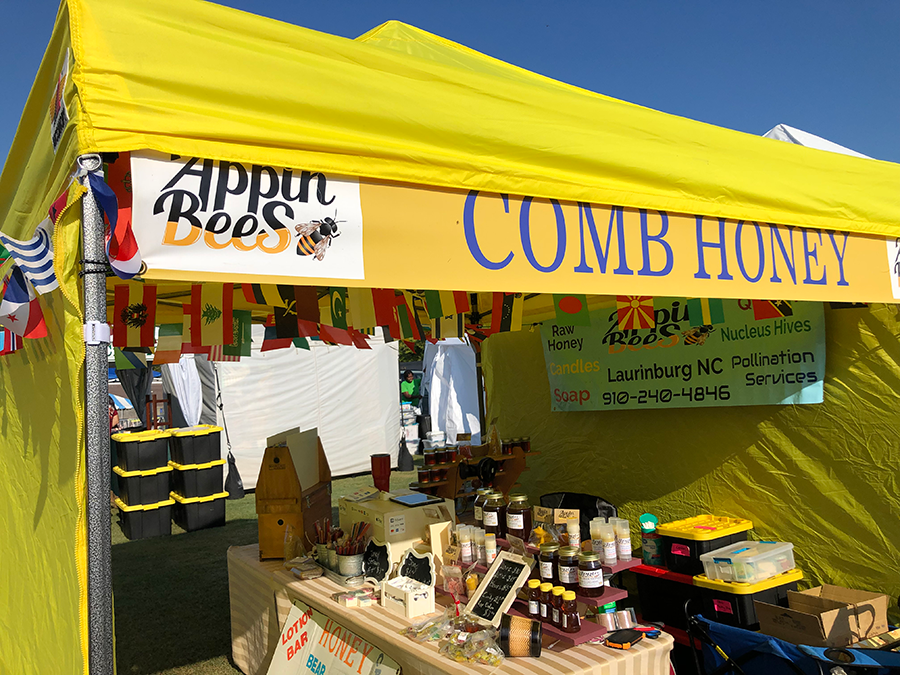 Appin Bees festival tent.