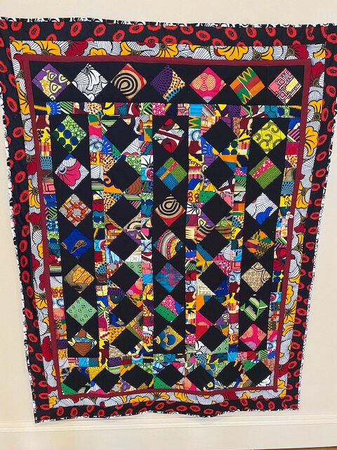 Colorful quilt.