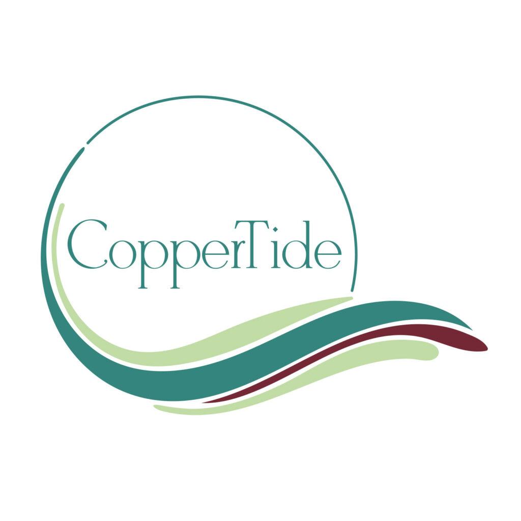 CopperTide Contemporary Enamel Jewelry logo.