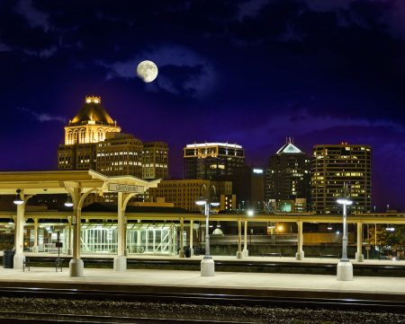 Greensboro Night Skyline by Dan Routh Photography
